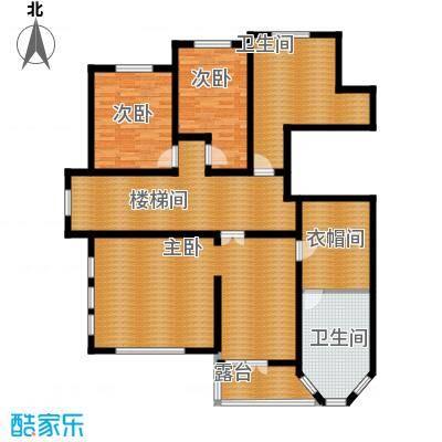晟煜东湖湾185.39㎡F2-01叠拼电梯别墅4F户型3室2卫