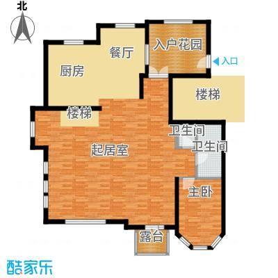 晟煜东湖湾160.51㎡F2-01叠拼电梯别墅3F户型1室2卫