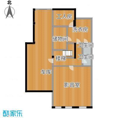 晟煜东湖湾177.42㎡A-01阔景双拼别墅-1F户型2卫