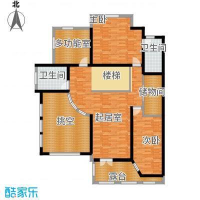 晟煜东湖湾128.01㎡A-01阔景双拼别墅2F户型2室2卫