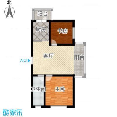 新龙城93.68㎡C2区多层C6#户型2室1厅1卫
