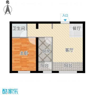 金昌国际59.75㎡H户型1室1厅1卫