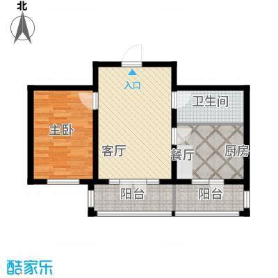 万吉华府69.98㎡3号楼1单元1号/3号楼3单元1号1室户型1室1厅1卫