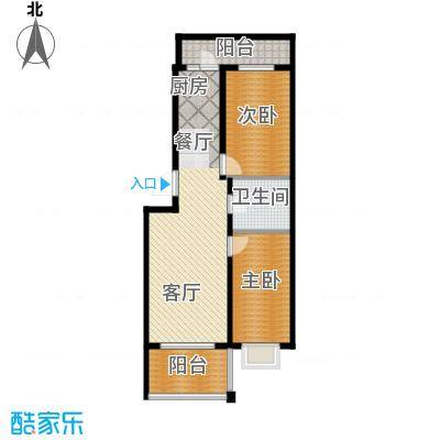 新龙城101.23㎡C2区高层C2#10#户型2室1厅1卫