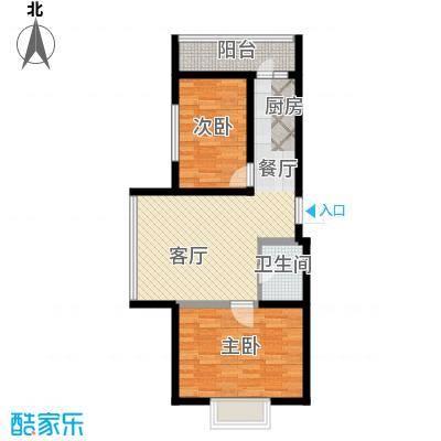 新龙城89.63㎡C2区高层C2#10#户型2室1厅1卫