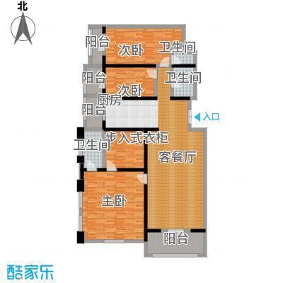 美域江岛136.47㎡使用面积13647户型3室2厅1卫