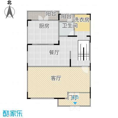 海域岛屿墅126.19㎡257&nbsp&nbspA6型一层户型2厅1卫1厨