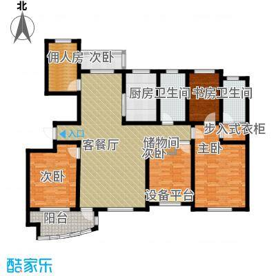 城市之星105.55㎡z5-1户型2室2厅1卫