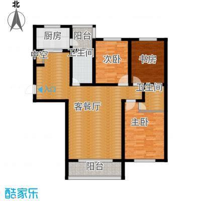 城市之星111.15㎡z4-2户型2室2厅1卫