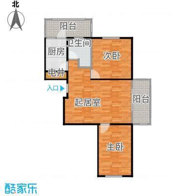 盛世香湾76.68㎡B1户型2室1厅1卫