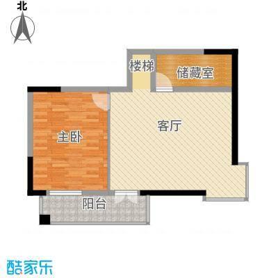 兰庭・中关村67.15㎡套内二层户型1室1厅