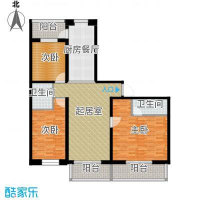 盛世香湾122.64㎡C2户型3室2厅2卫