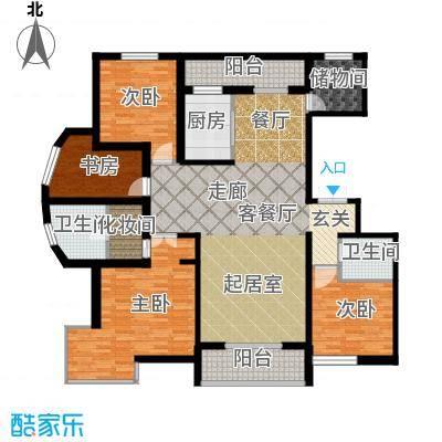 盛世香湾168.11㎡G1户型4室2厅2卫