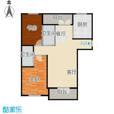 兰庭・中关村132.07㎡项目二期4#F户型2室2厅2卫