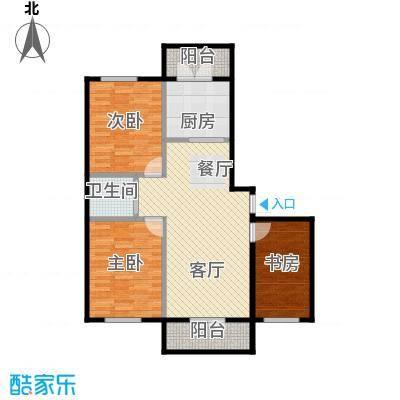 兰庭・中关村139.82㎡项目二期4#H户型3室2厅1卫