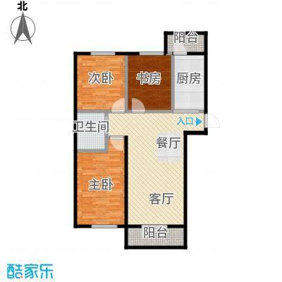 兰庭・中关村121.13㎡项目二期5#A户型3室2厅1卫