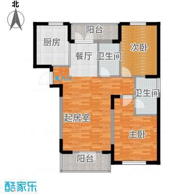 兰庭・中关村129.89㎡A区二期4号楼D户型2室2厅2卫