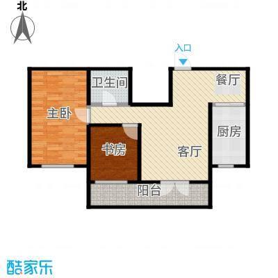 兰庭・中关村100.99㎡项目二期4#E户型2室2厅1卫