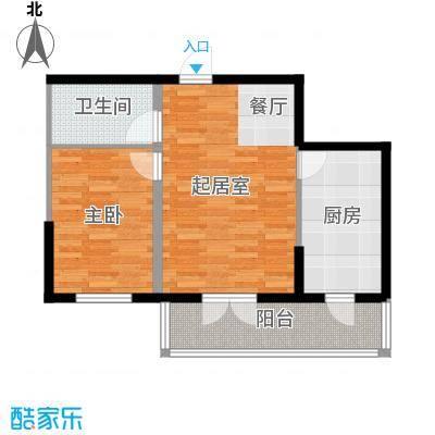 兰庭・中关村76.62㎡项目二期5#B户型1室2厅1卫
