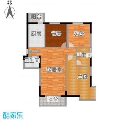 兰庭・中关村142.99㎡项目二期5#C户型3室2厅2卫