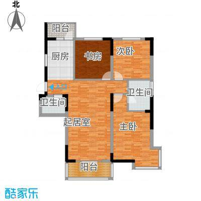 兰庭・中关村142.99㎡5#C户型3室2厅2卫
