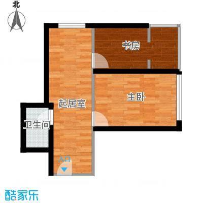 奥林小镇44.98㎡A栋1单元两室户型2室1厅1卫