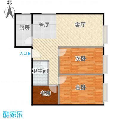 凤凰国际94.05㎡+衣帽间A4户型2室2厅1卫