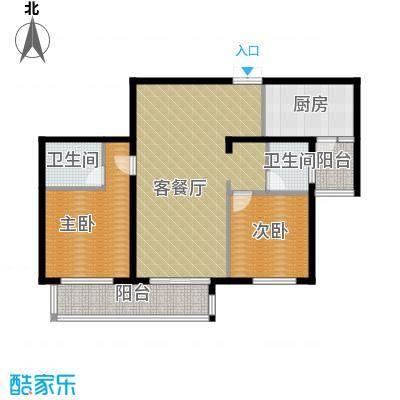 麒麟山庄110.00㎡H2户型2室2厅2卫