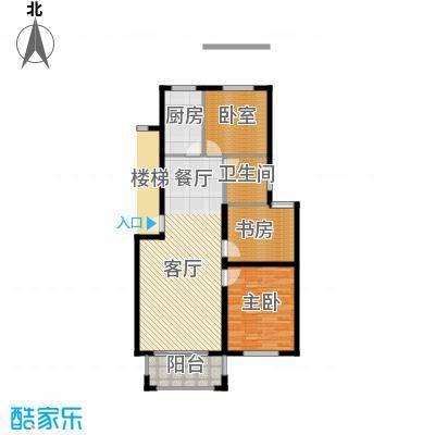 天泽苑96.19㎡3期17、18#楼标准层A2户型10室