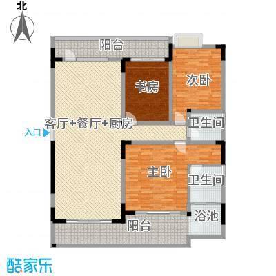 万联・晋海174.50㎡B2户型3室2厅2卫