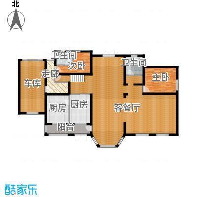 中浩青溪庄园210.97㎡F一层平面户型10室