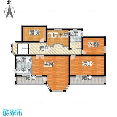 中浩青溪庄园150.79㎡F2二层平面户型10室