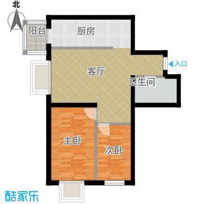 泰山领秀57.78㎡户型2室1厅1卫