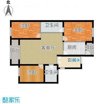 中山国际122.52㎡C户型3室1厅2卫1厨