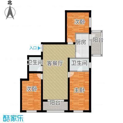 中山国际86.11㎡C户型3室1厅2卫1厨