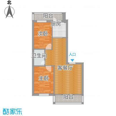 中北春城三期73.05㎡户型2室1厅1卫1厨
