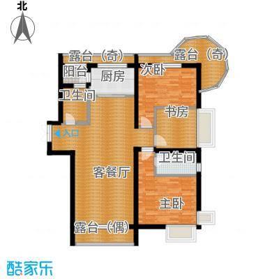 富达蓝山89.93㎡户型3室2厅2卫