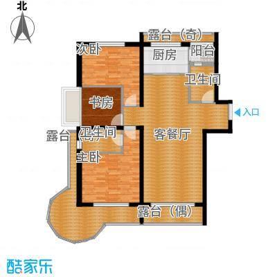 富达蓝山86.76㎡户型3室2厅2卫