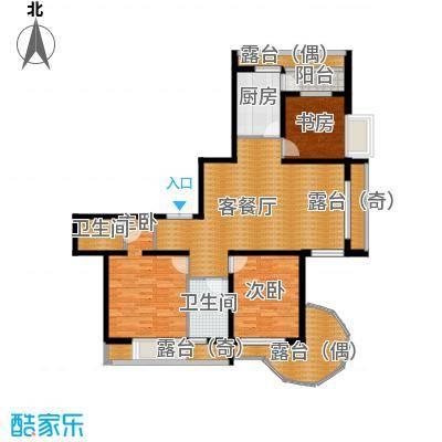 富达蓝山92.33㎡户型3室2厅2卫