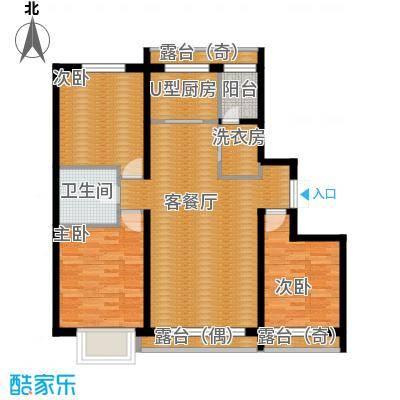 富达蓝山85.34㎡户型3室2厅1卫