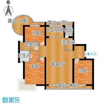 富达蓝山108.81㎡户型3室2厅2卫