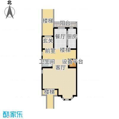 汇锦庄园121.00㎡联排别墅二楼户型2室1厅1卫