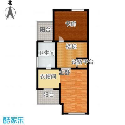 汇锦庄园77.00㎡联排别墅三层户型3室1卫