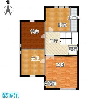 汇锦庄园72.00㎡双拼别墅三层户型3室2卫