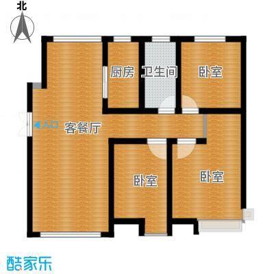恒盛皇家花园80.65㎡B1户型3室1厅1卫