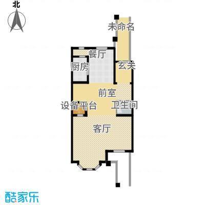 汇锦庄园117.00㎡联排别墅一层户型2室1厅1卫