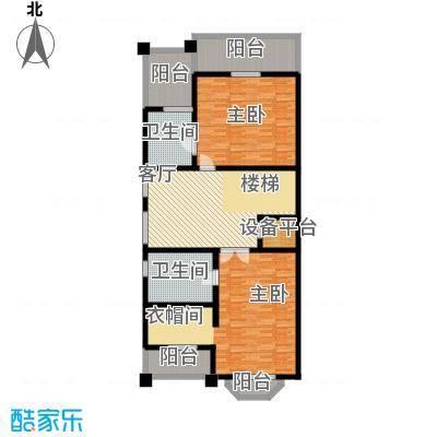 汇锦庄园122.00㎡联排别墅二楼户型3室1厅2卫