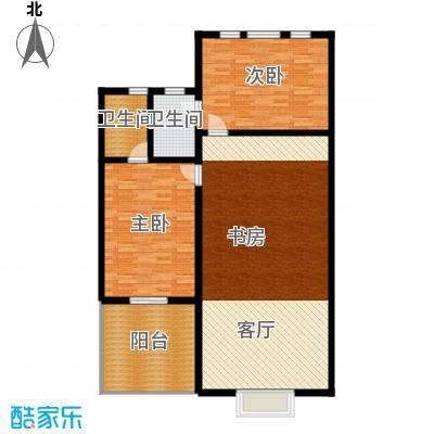 汇锦庄园151.00㎡双拼别墅二层户型3室2厅2卫