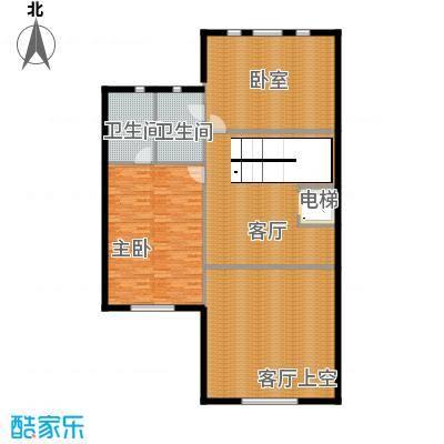 汇锦庄园120.00㎡双拼别墅二层户型2室2卫