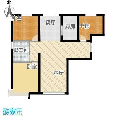 恒盛皇家花园123.49㎡H1户型3室2厅1卫